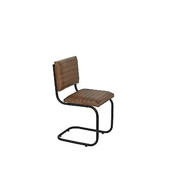 Light & Living Chair 43x47x86cm Lockhart Leather Brown