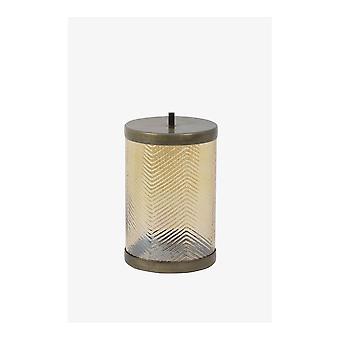 Jar de almacenamiento de luz y vida 12x19.5cm Tobyn vidrio oro brillo y bron antiguo