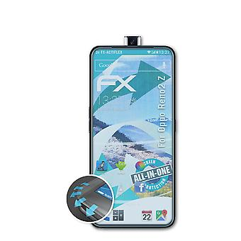 atFoliX 3x Protective Film compatible with Oppo Reno2 Z Screen Protector clear&flexible