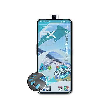 atFoliX 3x Schutzfolie kompatibel mit Oppo Reno2 Z Folie klar&flexibel