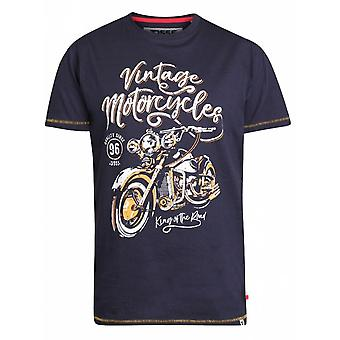 DUKE Duke-D555 Vintage motorfiets geprinte Fashion T-shirt