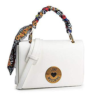 الحب موسكينو Jc4044pp1st حقيبة يد المرأة البيضاء (أبيض) 6x18x28 سم (W x H x L)