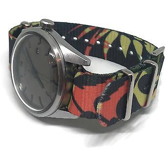 N.a.t.o zulu g10 style watch strap in the jungle pattern 20mm