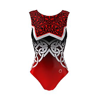Girls Dance Leotard And a Short, Celtic Armour Gymnastics Outfit Ballet Costume, 3-16Y Sizes