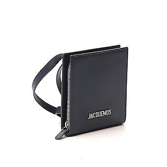 Jacquemus 205ac2120558390 Men's Blue Leather Wallet