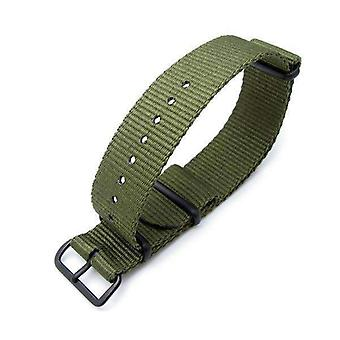 Strapcode n.a.t.o watch strap miltat 24mm g10 military watch strap ballistic nylon armband, pvd black - forest green