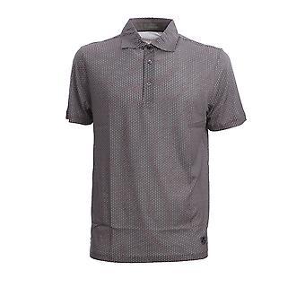 Corneliani 85g5420125063002 Men's Grey Cotton Polo Shirt