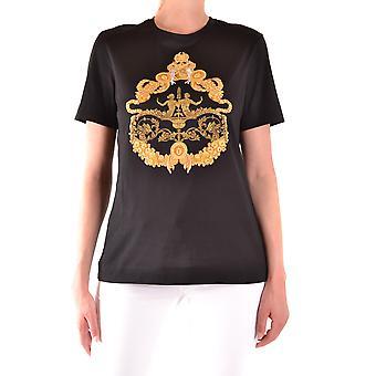 Versace Ezbc070013 Kvinder's Sort Bomuld T-shirt