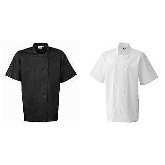 Premier Unisex Short Sleeved Chefs Jacket / Workwear
