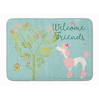 Welcome Friends Pink Poodle Machine Washable Memory Foam Mat