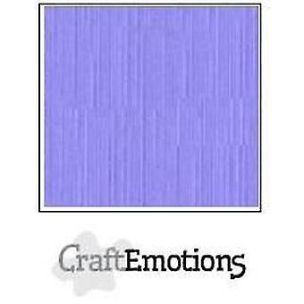 CraftEmotions linnen karton 10 Sh heide pastel 30,5x30,5cm / LC-49