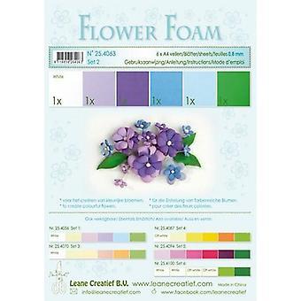 Leane Creatief Espuma de Flores A4 Set 2 Azul-Violeta