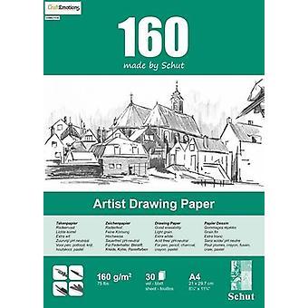 Schut Artist Drawing Paper 160 gram A4 bloc a 30 sheets