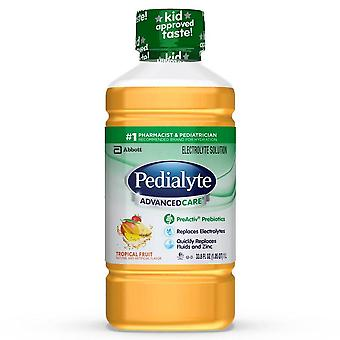 Pedialyte advanced care electrolyte solution, tropical fruit, 33.8 oz