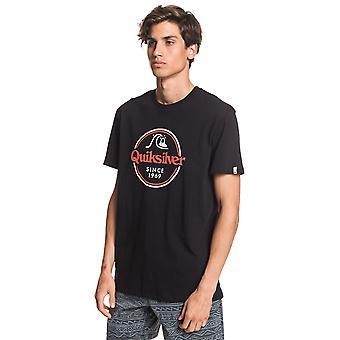 Quiksilver Menn's T-skjorte ~ Ord Forbli svart