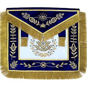 Masonic grand lodge past master apron hand embroidered bullion