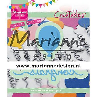 Marianne Design Creatables Cutting Dies - Félicitations & Ballon LR0626