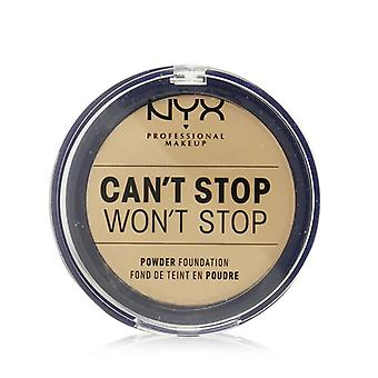 NYX Can't Stop Won't Stop Powder Foundation - # True Beige 10.7g/0.37oz