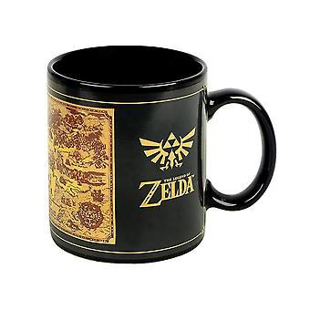 The Legend of Zelda, heat changing mug-map