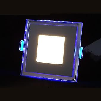 I LumoS LED 15 Watt Square Recessed Ceiling DownLight with Blue Light Pure White
