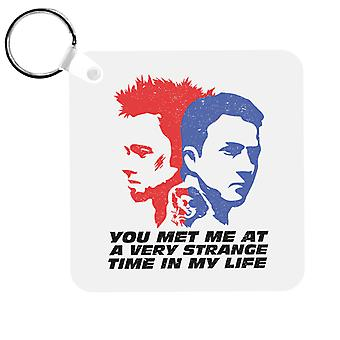 Fight Club You Met Me At A Very Strange Time In My Life Keyring