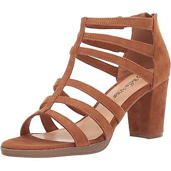 Bella Vita Women's Leah Sandal with Back Zipper Shoe, Biscuit Kidsuede Leathe...