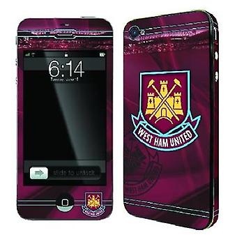 Officielle FC skins til iPhone 4/4S-WEST HAM UNITED