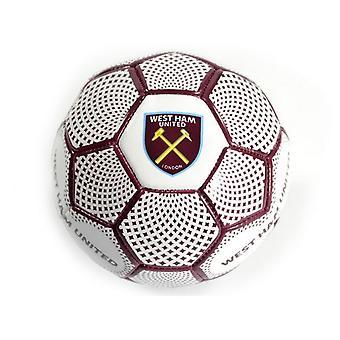 West Ham United FC Diamond Lær mini fotball