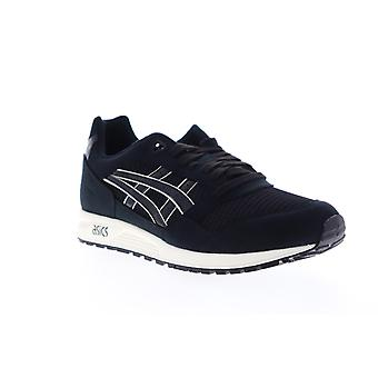Asics Gel Saga  Mens Black Mesh Low Top Lifestyle Sneakers Shoes