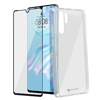 Coque Huawei P30 Pro Polycarbonate Rigide Film Verre trempé 4Smarts Transparent