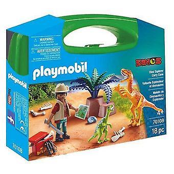 Playset Dino Explorer Carry Case Playmobil 70108 (18 pcs)