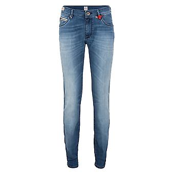 Replay Skinny Jeans JASMEEN 8 OZ TUMMANSININEN VAALEA P Housut Tube Slim JASMEEN 8 OZ