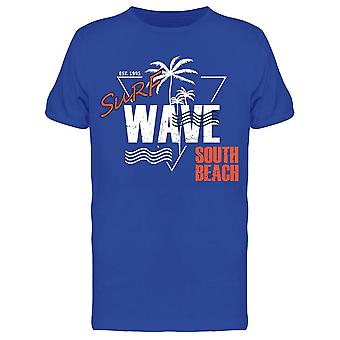Surf Wave South Beach Tee Miehet&s -Kuva Shutterstock