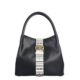 Zanellato 6414pnbc Women's Black Leather Handtas