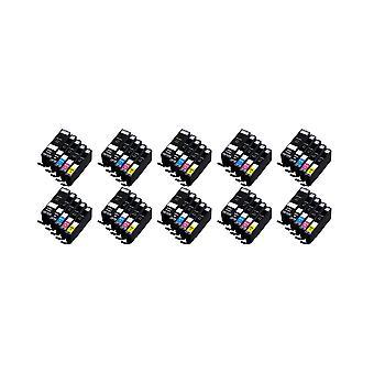 RudyTwos 10 x korvaa Canon PG-550 CLI-551 asettaa muste yksikkö musta syaani Magenta keltainen & 1 Extra musta yhteensopiva Pixma iP7250, iP8750, iX6850, MG5450, MG5550, MG6350, MG6450, MG7150, MX725, MX
