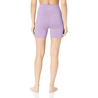 "Core 10 Women's All Day Comfort High Waist Short-5"", Lilac Heather, XS (0-2)"