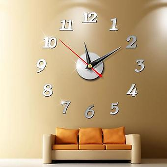 Unique Large Wall Clock 3d Mirror Sticker