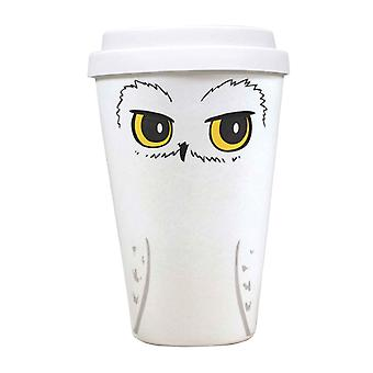 Harry Potter Travel Mug Hedwig Logo new Bamboo Official White