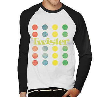 Twister Faded Mat Design Men-apos;s Baseball T-Shirt à manches longues