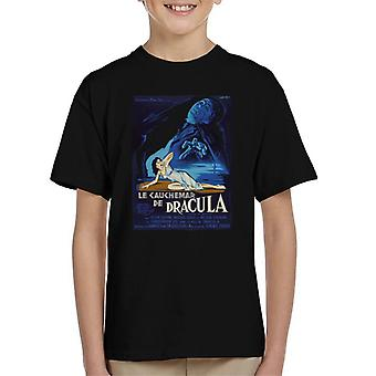 Hammer Horror Filme Dracula Französisch Film Poster Kid's T-Shirt