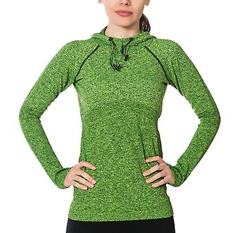 Jerf mujer Linga verde sudadera con capucha sin costuras