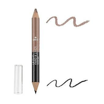Duo liner Charcoal black / Pearl taupe 1 unit