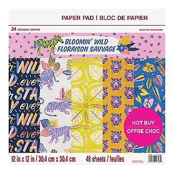 Craft Smith Bloomin' Wild 12x12 Inch Paper Pad