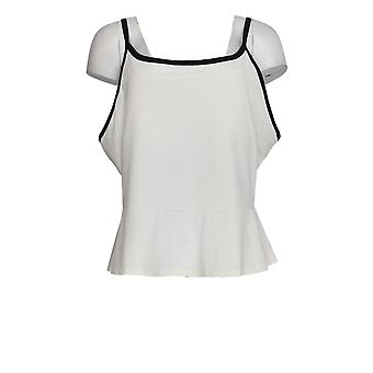 Tracy Anderson For G.I.L.I. Women's Plus Top Peplum Cami White A355138