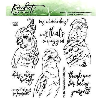 Picket Fence Studios Pretty Birds selkeät postimerkit