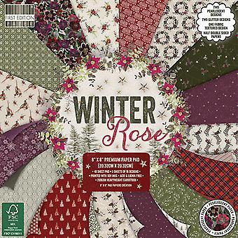 Första utgåvan Vinter Rose 8x8 Tums Paper Pad