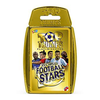 World Football Stars 2018 Gold Case Top Trumps Card Game