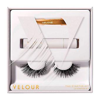 Velour False Lashes The Starter Kit - Semi Natural Look with Added Volume