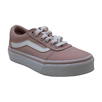 Vans Kids K Old Skool V Suede Canvas Chalk Pink White Size 6.5