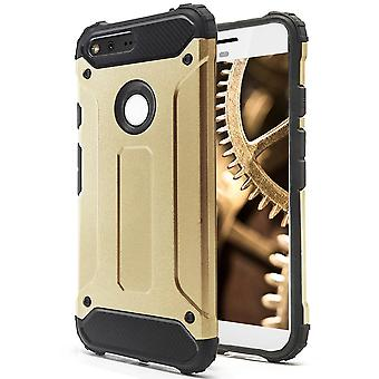 Shell a Google Pixel XL Gold Armor Protection Case Hard